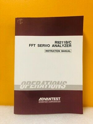Advantest Oed00 9303 R9211bc Fft Servo Analyzer Instruction Manual