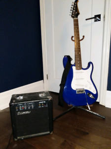Silvertone guitar and amp