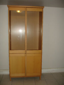 Ikea Solid dining hutch or display cabinet