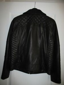 COLE HAAN LEATHER COAT