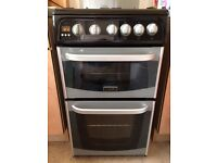 Cannon 500mm wide black gas cooker
