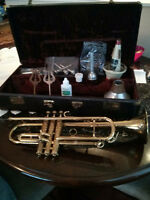 VINTAGE CONN CHICE OF THE ARTISTS 22B GOLDPLATED TRUMPET