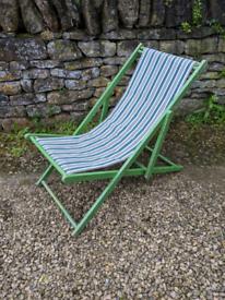 Traditional Deck Chair Sun Lounger