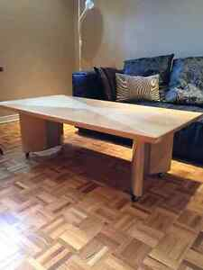 Lacquer finish coffee table and end tables