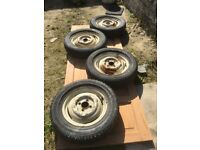 4 Morris Minor wheels,with Michelin tyres