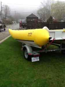 18' INFLATABLE BOAT AND TRAILER London Ontario image 8