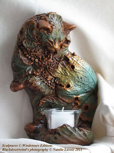 Windstone Editions Leaf Cat Sconce (NEW)