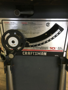 "10"" Mobile Craftsman Table Saw"