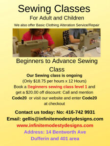 We offer sewing/Sewing Alteration at our sewing shop