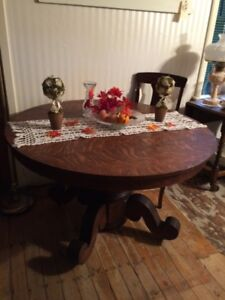 Eye Catching Round Oak Table and Wonderful Green Drop Leaf Table