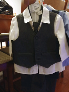 3 Boy four piece suits. Sizes 12 mths to 2T