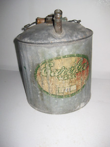 Vintage Eureka Ware Galvanized Oil Can