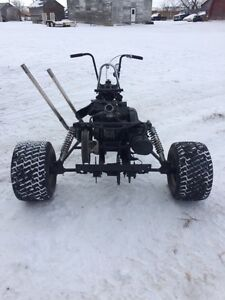 Chopper Trike    with skidoo motor.    RARE and UNIQUE