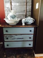Rustic Destressed Wash Stand