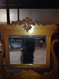 Oak swing mirror dresser Stratford Kitchener Area image 2