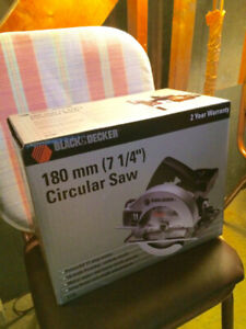 """Black and Decker Circular Saw (180 mm, 7 ¼"""") – Unopened in Box!!"""
