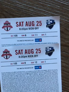 TFC and Montreal Impact. Sat, Aug 25th, 2018 @ 8:00PM at BMO