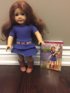 American Girl Saige with Book