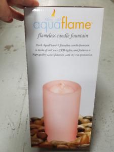Aqua Flame Candle Decor