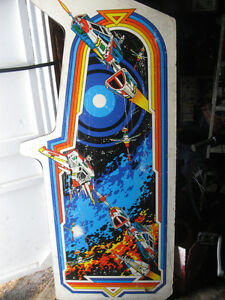Vintage Arcade Machine Panel Video Game TRON Man Cave