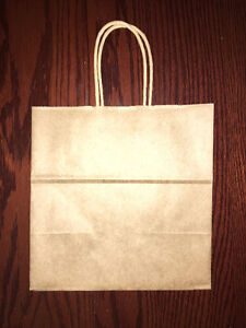 150 Brown Kraft wedding favour bags with handles