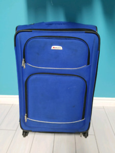 blue suitcase luggage