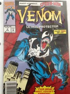 VENOM LETHAL PROTECTOR PART TWO OF SIX RARE NEWSSTAND C
