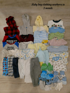 Baby boy clothing NB to 3 m old $25