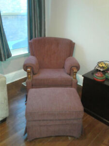 Chair and footrest