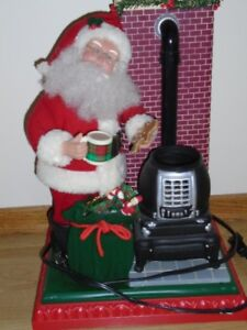 Musical Santa with Fireplace