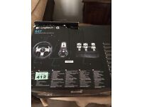 Logitech G27 Steering Wheel and stand