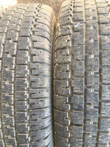 """Two 15"""" Nordic Wintertrac winter tires - like new"""
