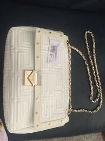 Gianni Versace cream handbag