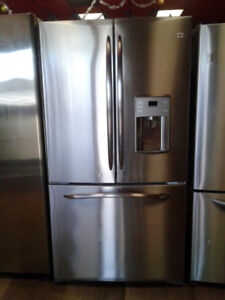 "36"" GE profile fridge french door  stainless"