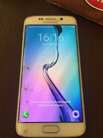 Samsung s6 edge,64gb,unlocked but crashed screen all work,no problem
