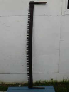 "RARE ANTIQUE SIMONDS 2 MAN 66"" 5.5' BLADE BUCKING CROSSCUT SAW!"
