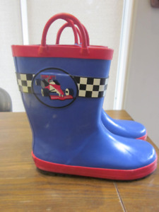 Gymboree Race Car Rain Boots - Size 13