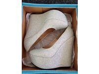 Diamante heels size 4