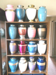 SELECTION OF ADULT CREMATION URNS FOR $175 , WHILE SUPPLIES LAST