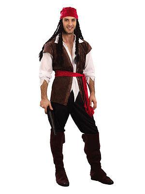 Déguisement Pirate des Caraibes Homme Costume Adulte Halloween Capitaine Jack