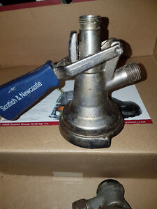 Beer keg couplers, brewery or microbrewery