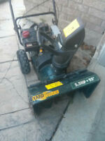 "YardWorks 5.5hp 22"" 2-stage snowblower with electric start"