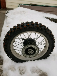 Studded tires on honda rims