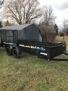 Remorque, trailer Sports Adventure de Maxi Roule 14 pieds rampes