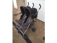 Mamas and Papas double twin pushchair buggy