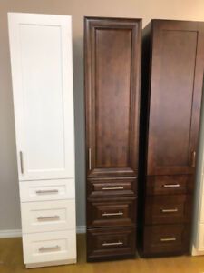 "Bathroom Solid Wood Linen Cabinet 18""W*84""H*22""D"