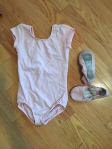 Ballet Dance Body Suit and Slippers