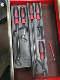 Snap on trim tools and hose picks