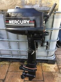 Mercury 4hp short shaft 2 stroke outboard boat engine fresh water use
