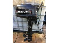 Mercury 4hp short shaft 2 stroke outboard boat engine fresh water use